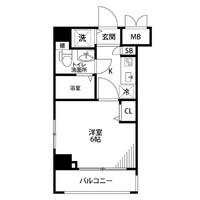 【冬割】アットイン武蔵小杉1間取図
