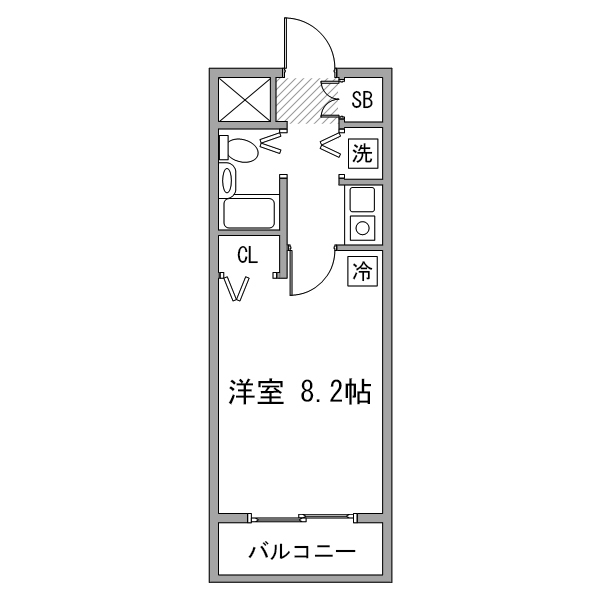 【Happy割】アットイン日本橋1-2の間取り