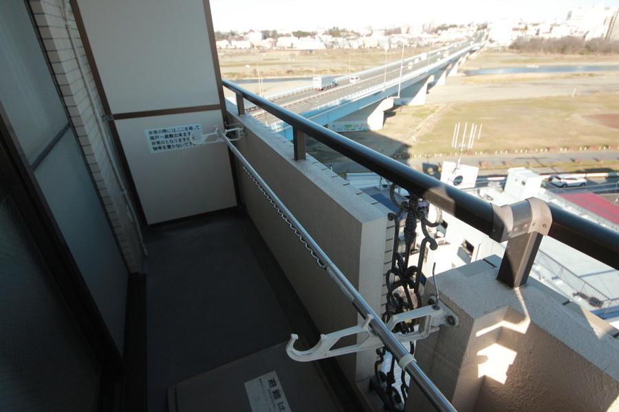 多摩川を眺められる風景