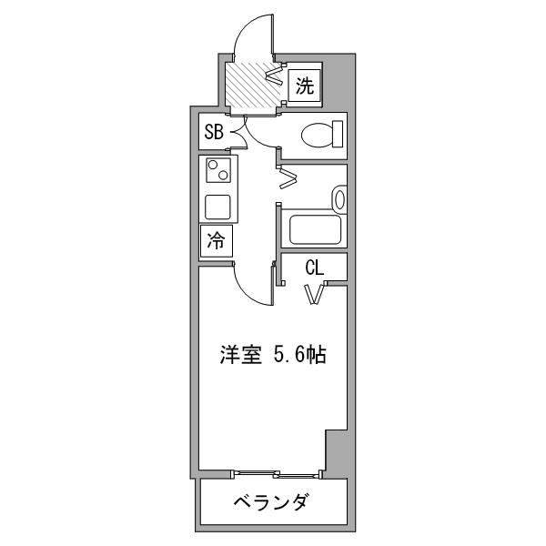 【夏割】アットイン新宿1-1の間取り