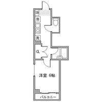 アットイン飯田橋1間取図