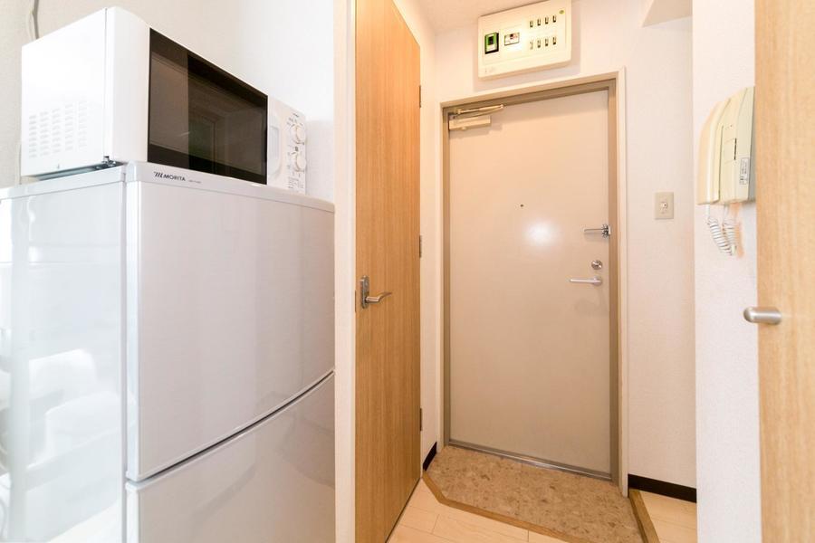 玄関からは室内が見えにくくなっており、プライバシー面も安心です