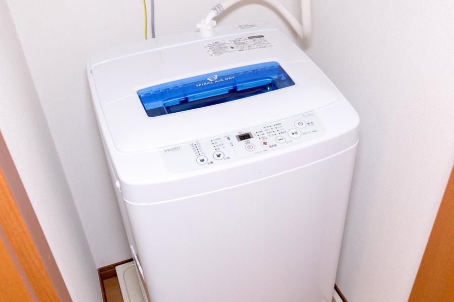 洗濯機置場は室内に設置。衛生面、耐久面でも安心です