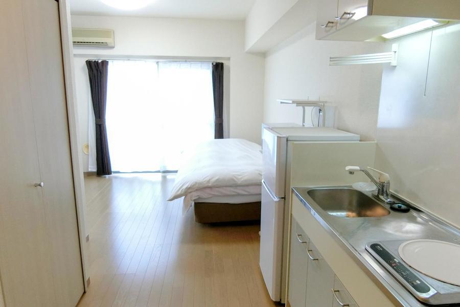 仕切りのないワンルームタイプは風通しもよくお部屋が広く感じられるのが特徴