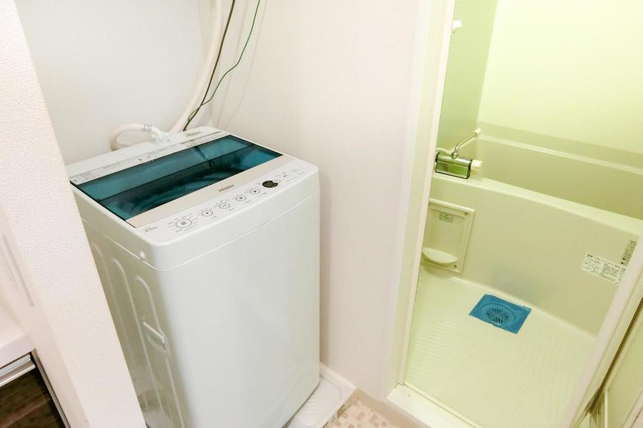 洗濯機は室内に配置。衛生面や防犯面、劣化の心配もなく安心です
