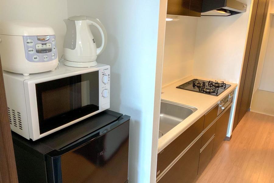 冷蔵庫をはじめとしたキッチン家電類もしっかりご用意しております