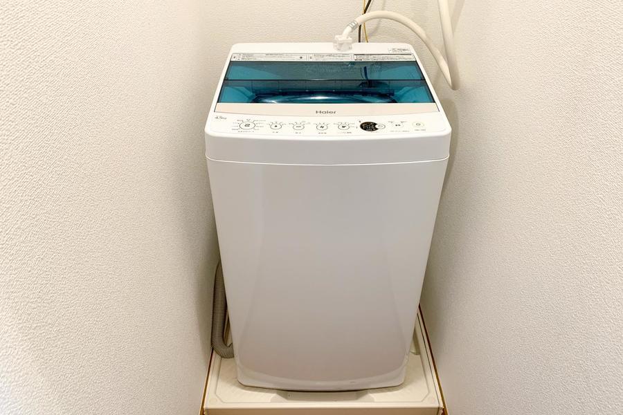 洗濯機置き場は室内。屋外置きと違って故障の心配もありません