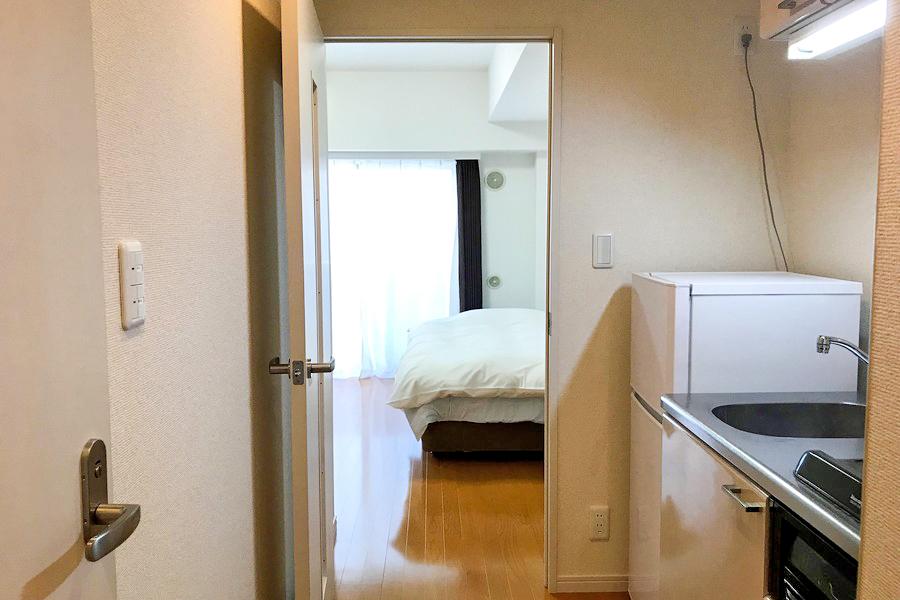仕切り扉は室温管理、来客時のプライバシー保護に役立ちます