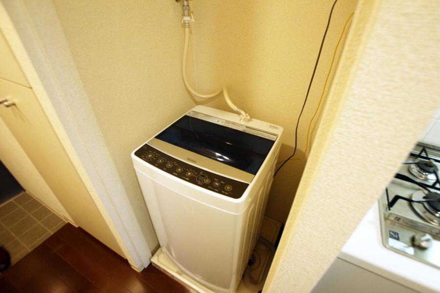 洗濯機は衛生面、防犯面、耐久面でも安心の室内置きタイプ
