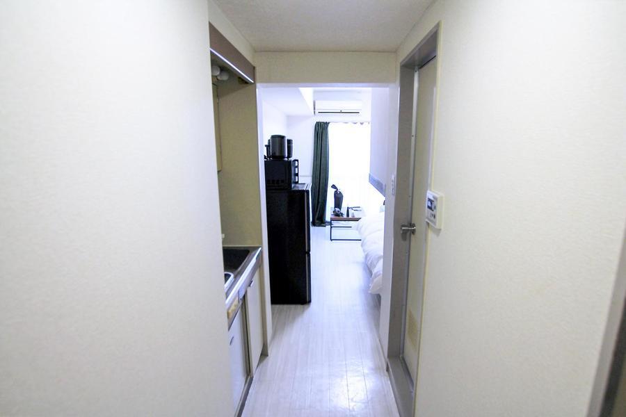 お部屋と廊下の間には仕切りがないためすっきりとした印象
