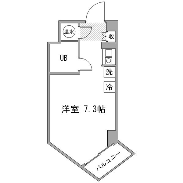 【夏割】アットイン飯田橋5-2の間取り