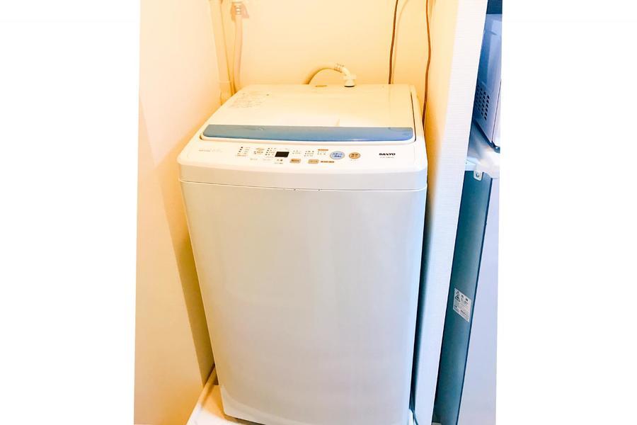 毎日使う洗濯機も室内設置で安心&安全!