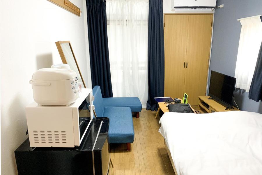 ご自宅のようにくつろげるお部屋は広すぎず狭すぎずの絶妙なサイズ感