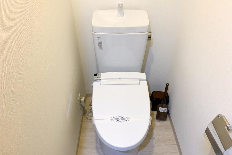 お手洗いは人気のウォシュレットタイプをご用意しています