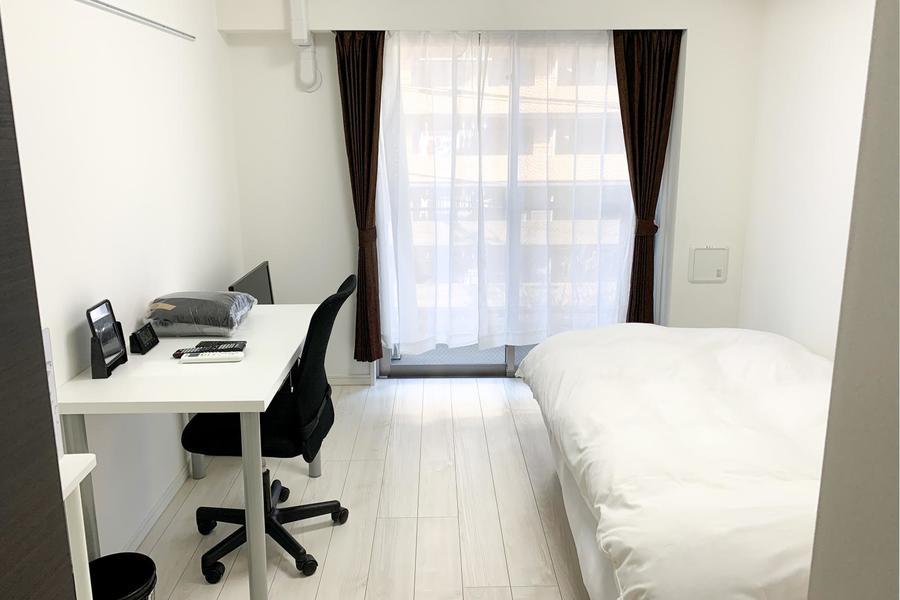 ホワイトを基調としたシンプルな室内。スッキリしたインテリアがお好みの方にオススメです