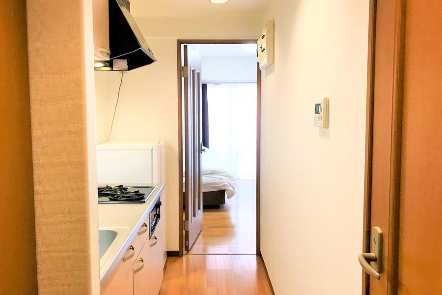 廊下もお部屋と同じカラーリングでまとめ、統一感アップ