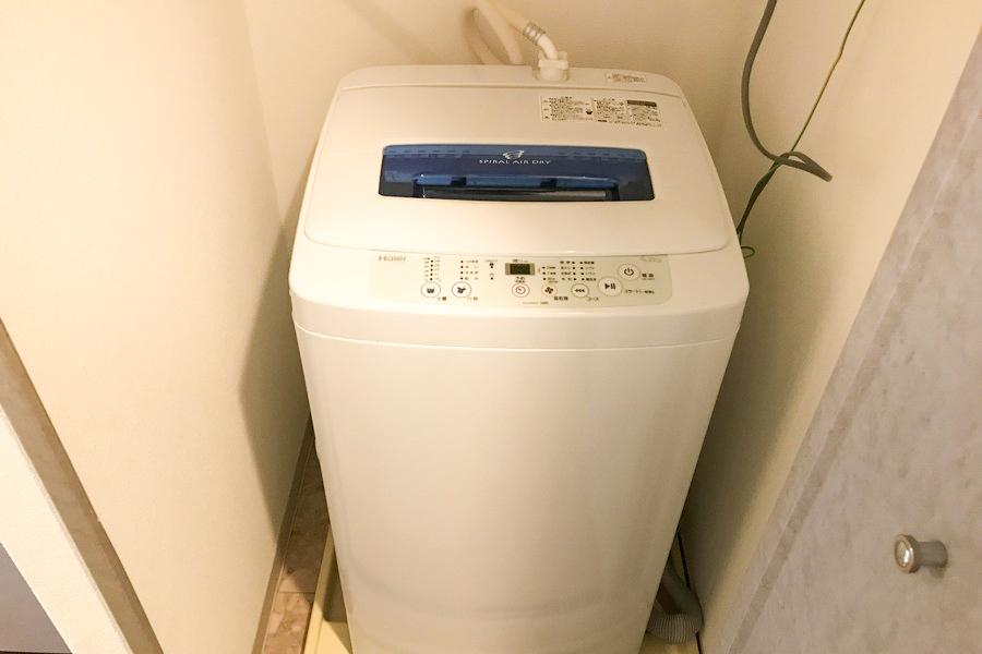 洗濯機置場は室内タイプ。衛生面でも安心ですね