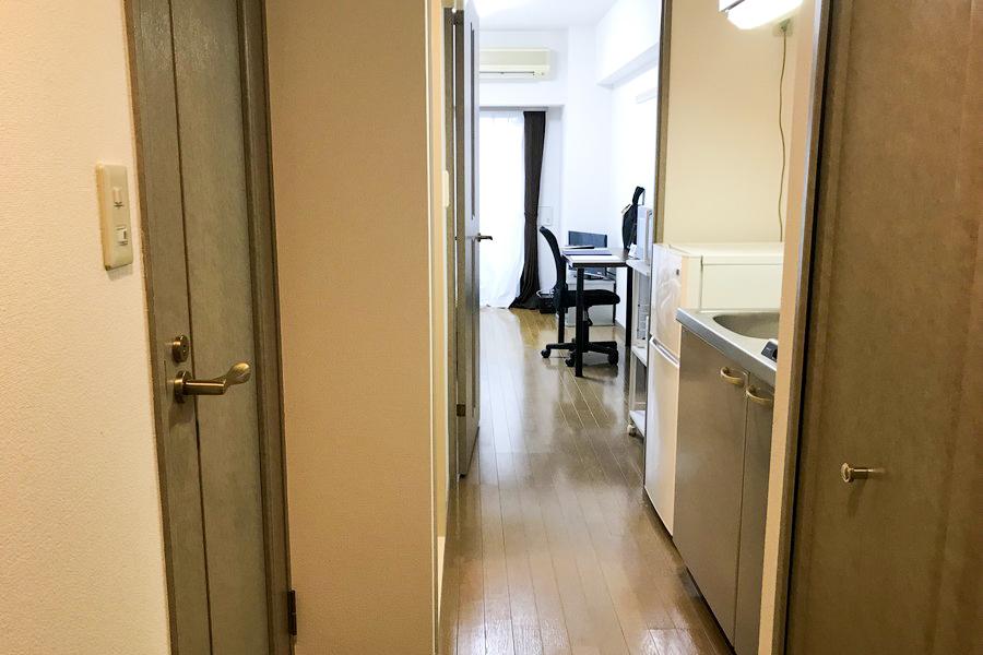 目隠し扉は来客時のプライバシー管理の他、室温管理にも便利です