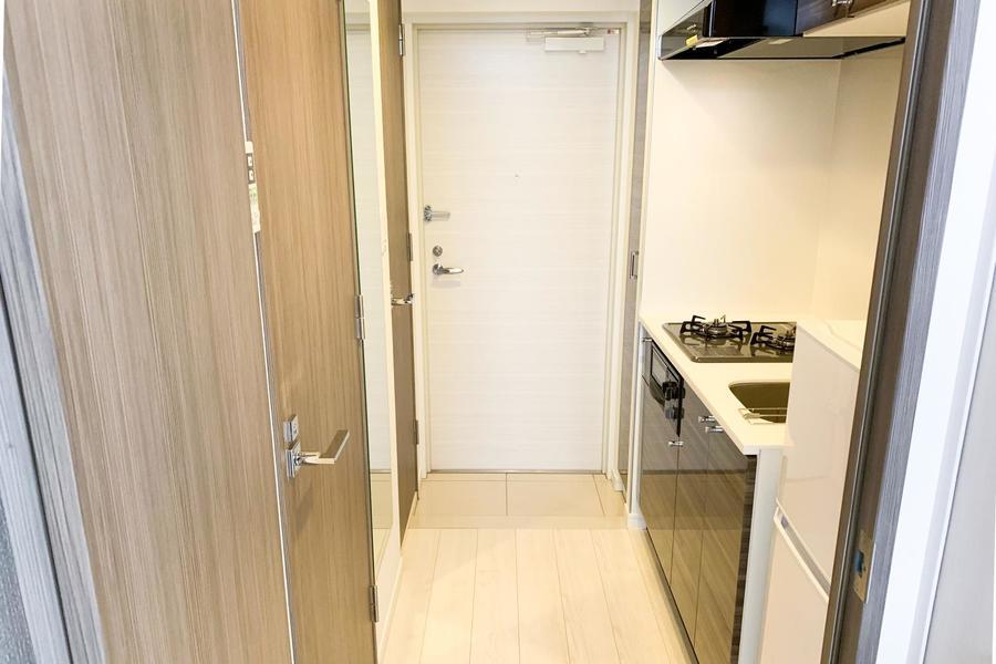 キッチン前も広めに取られており狭さを感じさせません