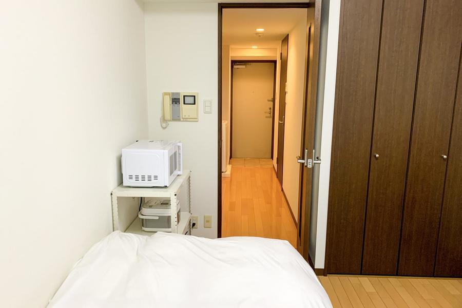お部屋の入口には扉を設置。目隠しにも室温管理にもご利用いただけます