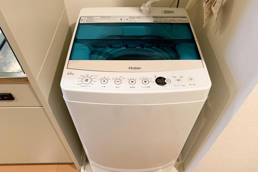 洗濯機は室内置きタイプ。衛生面、防犯面でも安心です