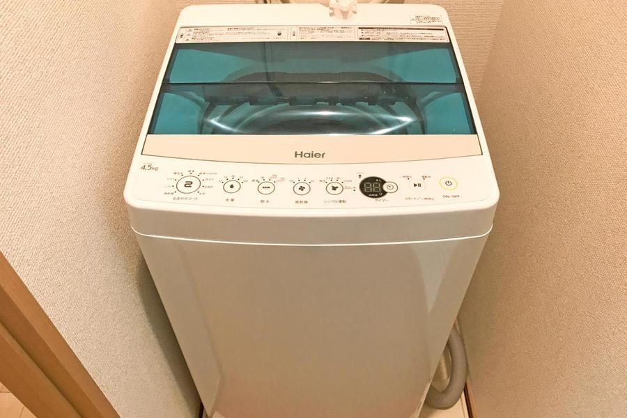 洗濯機は室内置きタイプ。衛生面、防犯面ともに安心です