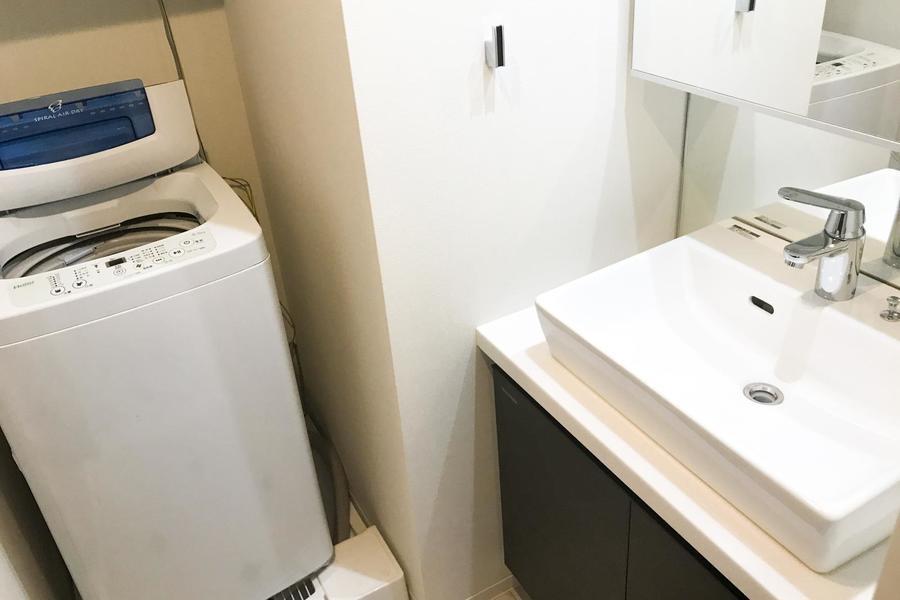 洗濯機は安心の室内置きタイプ