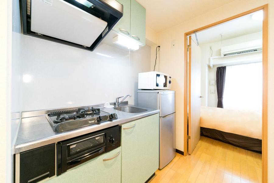 お部屋とキッチンの間には扉が設置。目隠しや室温管理に最適