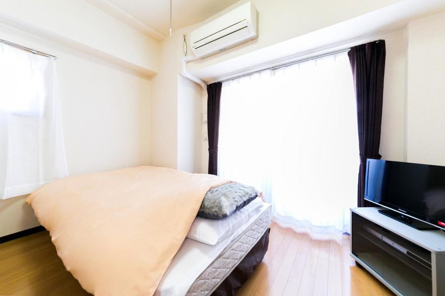 お部屋は6帖と平均的な広さ。長期滞在にもオススメです