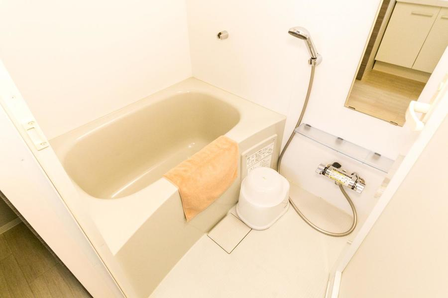 お風呂には人気の浴室乾燥機能を搭載。花粉やホコリを気にせず洗濯物OK!