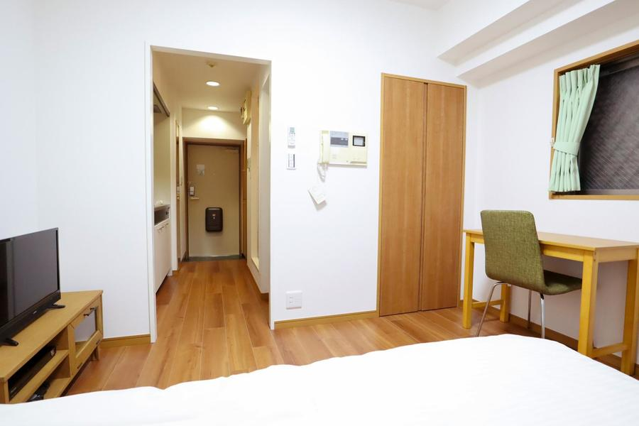 ひとり暮らしにちょうどよい広さのお部屋はクローゼット完備です