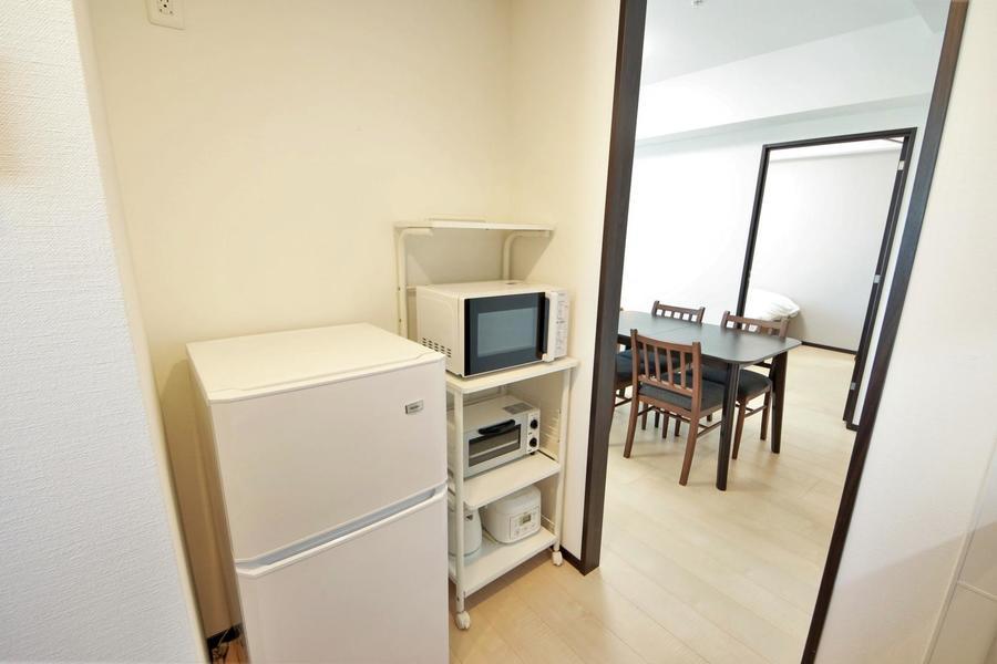 冷蔵庫や電子レンジなどの各種家電類もご用意しております