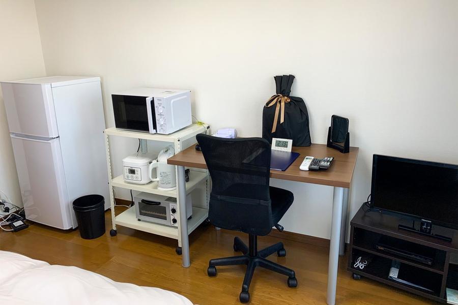 生活必需品である家具家電類は全てセッティング済。お着替え一つでご入居いただけます