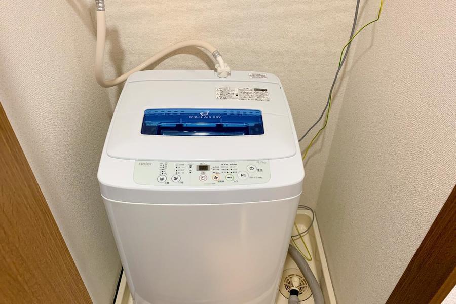 洗濯機は室内置きタイプ。衛生面・防犯面共に配慮されています