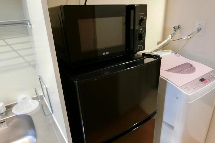 電子レンジや冷蔵庫などの生活家電もご用意しています