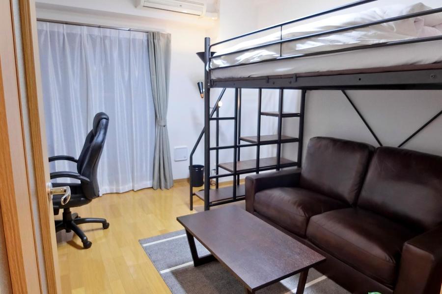 高さ、広さをより活かすロフトベッドタイプのお部屋です