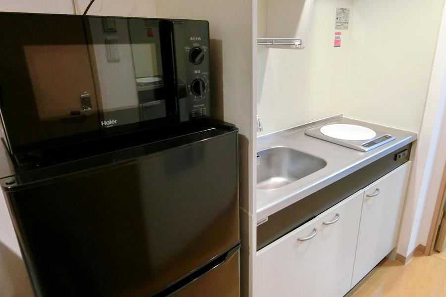 電子レンジや冷蔵庫など、キッチン家電は手の届きやすい場所に設置