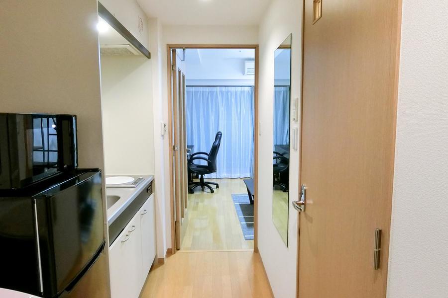お部屋と廊下の間は段差が少なめ。暗い中も安心して動けます