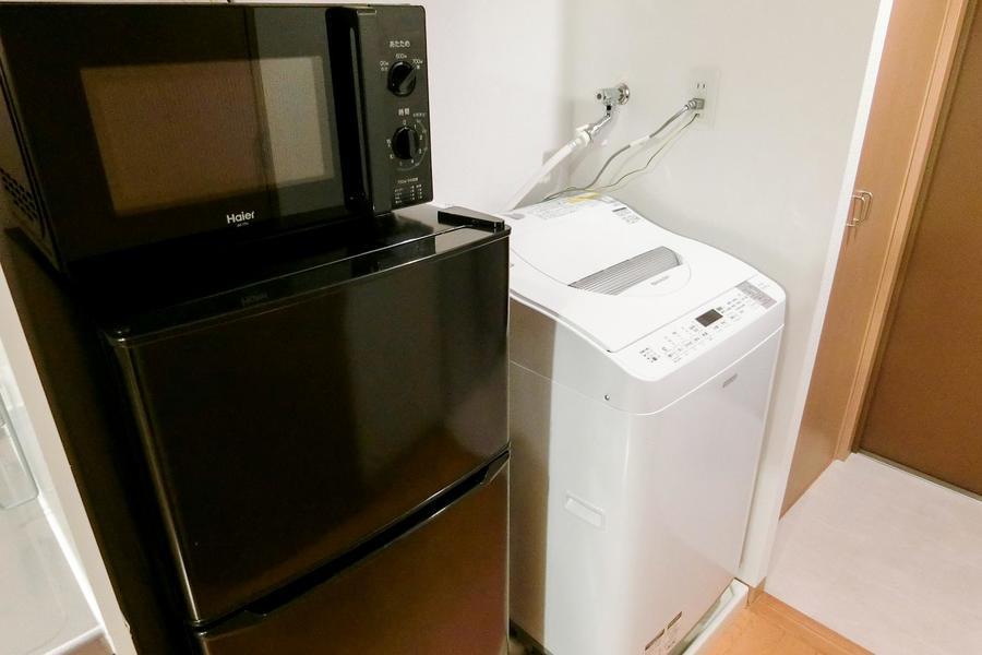 冷蔵庫や電子レンジ、洗濯機などの生活家電も取り揃えています