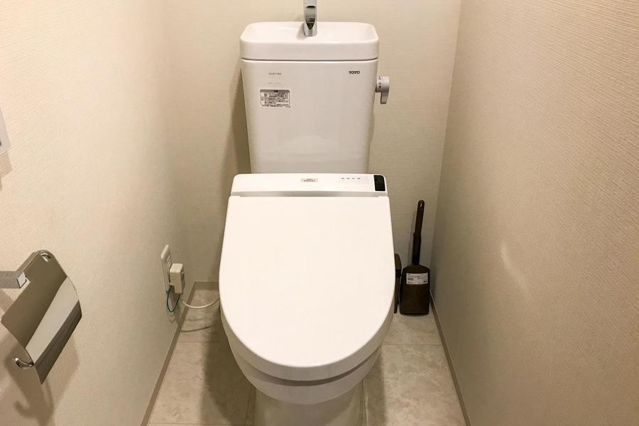 セパレートタイプのお手洗いで衛生面も安心