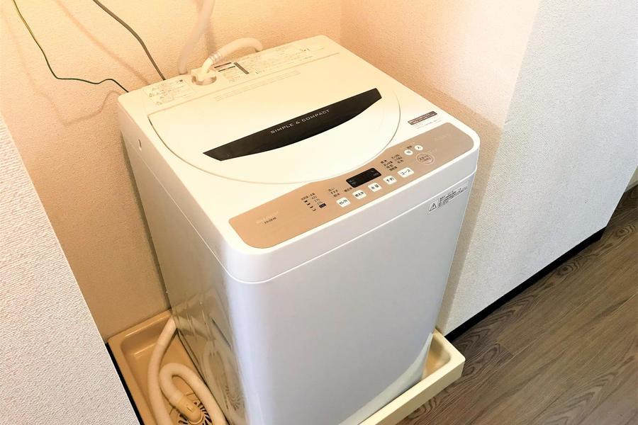 洗濯機は室内置き。衛生面、防犯面ともに安心です