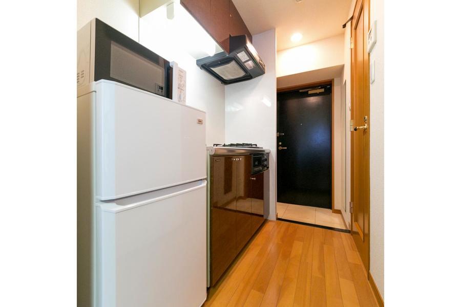お部屋と廊下は同じフローリング材を使用し、統一感があります