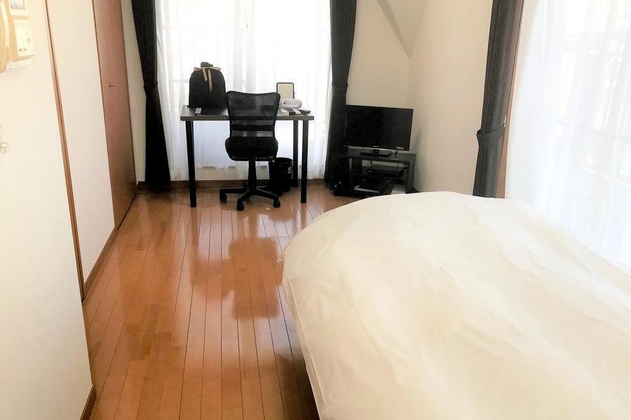 奥行きのある7帖超のお部屋。広さがあるため快適にお過ごしいただけます