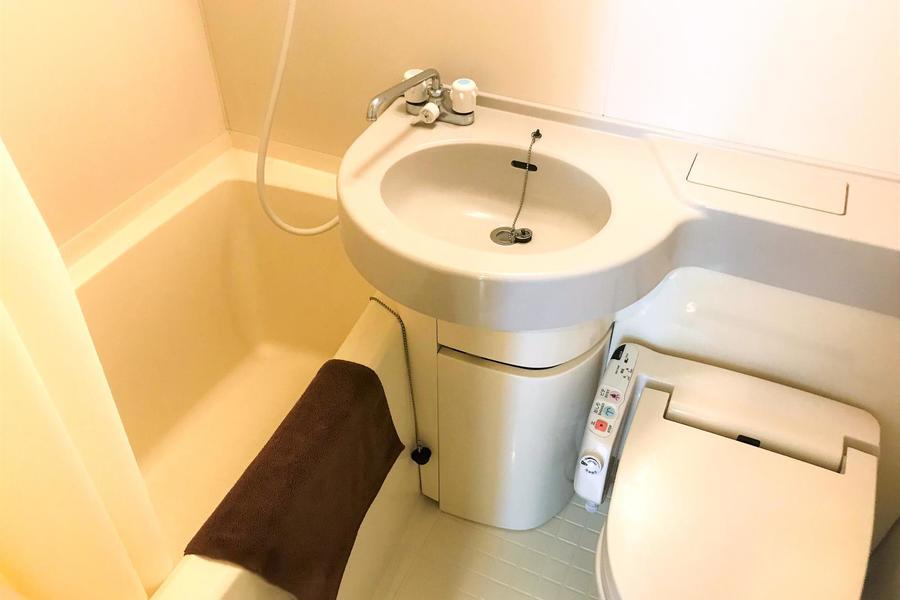 水回りは一箇所にまとめて使い勝手アップ。さらに浴室乾燥機能もついています