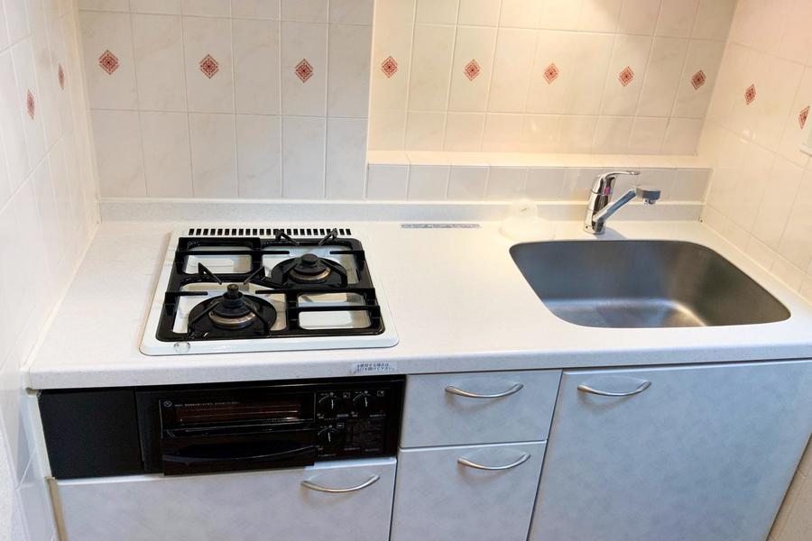キッチンは左右幅もしっかり取られており、お料理もしやすいつくり