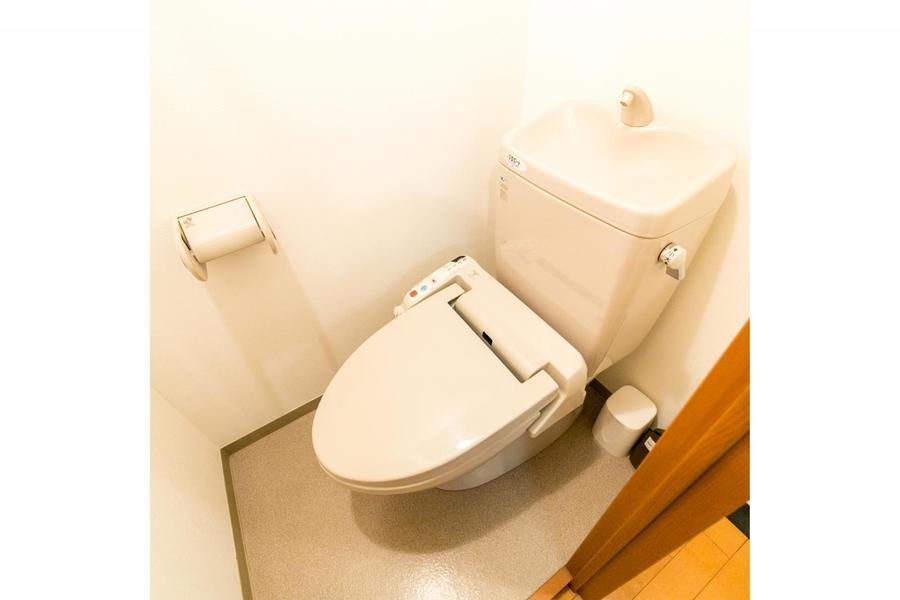 衛生面が気になるお手洗いもセパレート敷きで安心