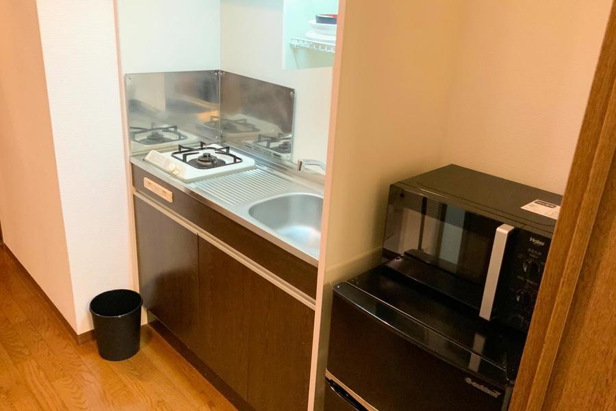 使いやすいキッチン周辺に家電もまとめてすっきり