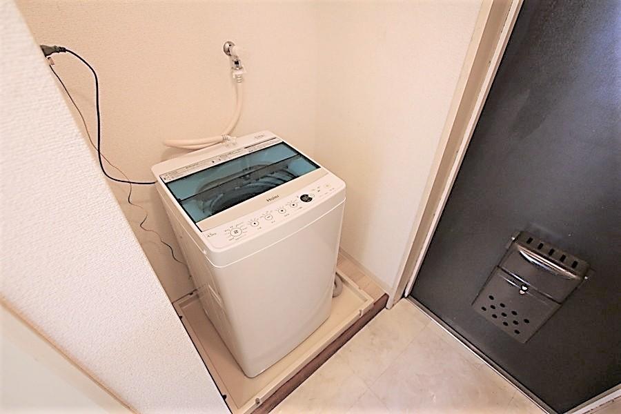 洗濯機は室内置き。衛生面や防犯面でも安心です