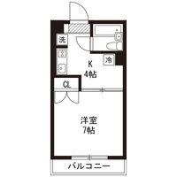 【ロング割】アットイン本厚木3間取図