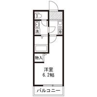 【ロング割】アットイン本厚木6-2間取図